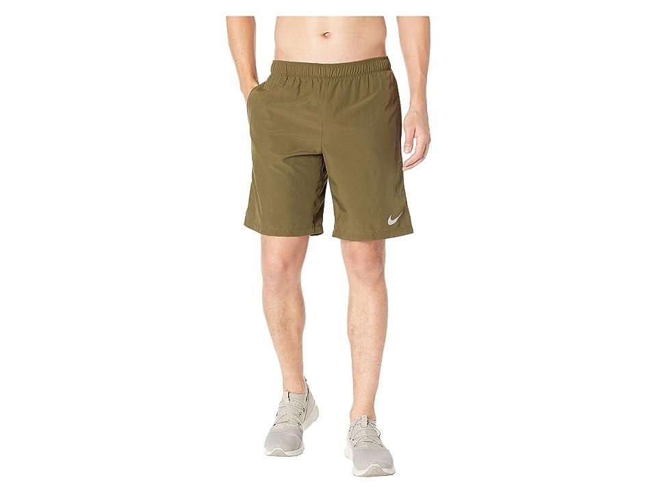 Nike Challenger 9 Running Short (Olive Canvas/Olive Canvas) Men