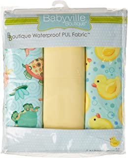 Babyville Boutique 35026 PUL Fabric, Playful Pond & Ducks, 21 x 24-Inch (3-Count)