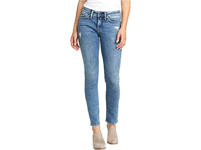 Womens Suki Curvy Fit Mid Rise Skinny Jeans Silver Jeans Co