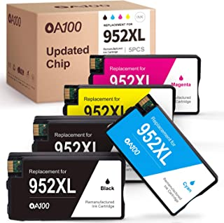 [Updated Chip] OA100 Remanufactured Ink Cartridges Replacement for HP 952 952 XL 952XL - for HP Officejet Pro 8710 8720 8715 8740 8702 8730 8200 8210 8725 7740 7720 Printer (5 Pack)