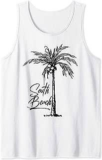 South Beach - Palm Tree South Beach Miami Tank Top