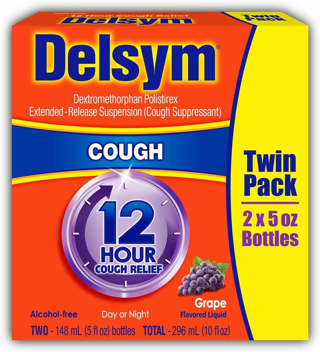 Delsym 12-Hour Cough Relief 5 cheap oz. 2 Albuquerque Mall pk.