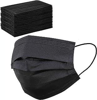50 Pcs Black Face Masks Breathable Dust Mask Stretchable Elastic Ear Loops - Black Face Mask