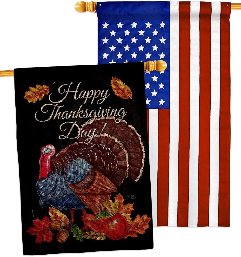 Breeze Japan Maker New Decor Thanksgiving Turkey Burlap Pack discount Flag House Fall Giv