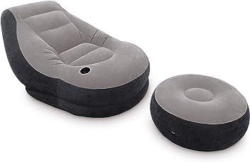 MWS Intex 68592 Poltrona relax gonfiabile Mode colore verde con schienale di appoggio