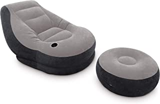 Intex 68564NP - Sillón+reposapiés hinchables 99 x 130 x 76