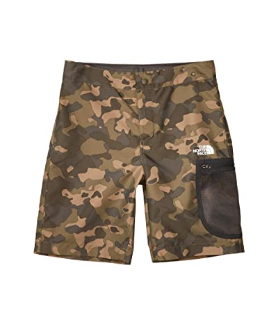 The North Face Kids High Class V Water Shorts (Little Kids/Big Kids) (Burnt Olive Green Ponderosa Print) Boy