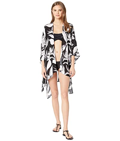 Body Glove Aubree Kaftan Cover-Up (Black/Black/White Print) Women