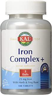 Sponsored Ad - Kal 25 Mg Iron Complex Tablets, 100 Count