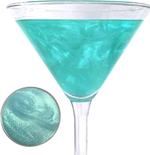 Snowy River Turquoise Cocktail Glitter - Kosher Certified Natural Turquoise Drink Glitter, Turquoise Beverage Glitter, Wine Glitter, Beer Glitter (5grams)