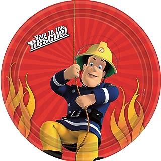 Fireman Sam Theme 23cms Paper Plate - Pack of 8