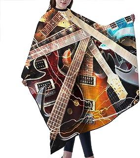 Magic Electric Guitar Music Barber Cape,Professional Salon C