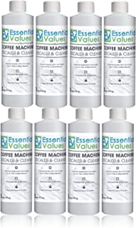 Essential Values Universal Descaling Solution (8 Pack / 16 Uses), Designed For Keurig, Nespresso, Delonghi and All Single Use Coffee and Espresso Machines - Proudly Made In USA