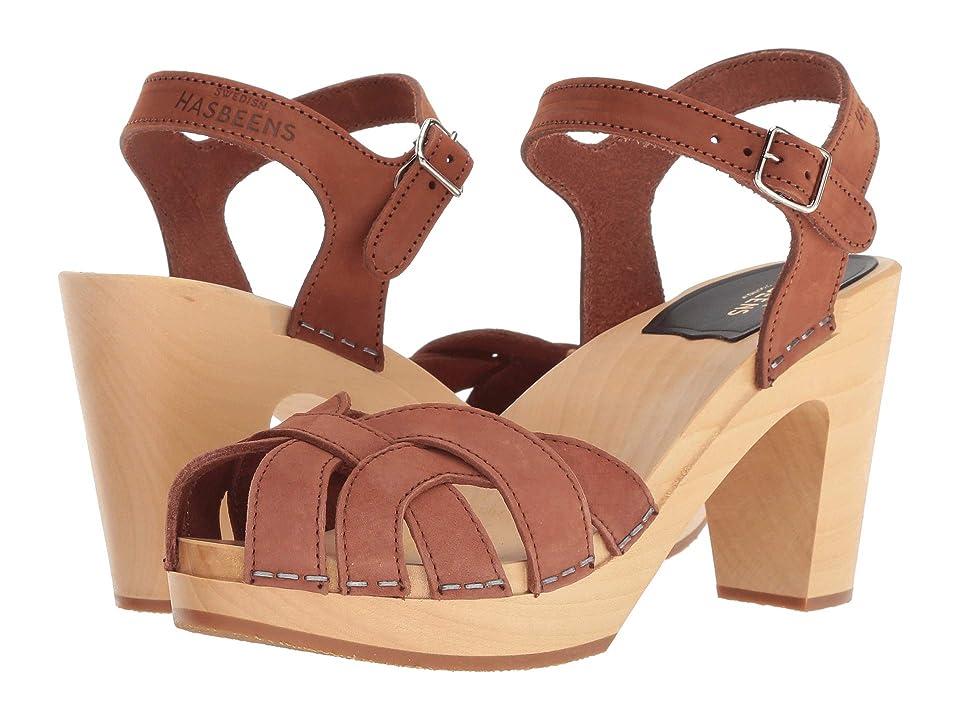 Swedish Hasbeens Pearl (Cognac Nubuck) High Heels