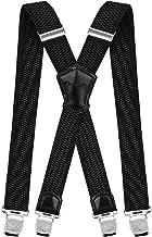 Decalen Mens Suspenders کلیپ های بسیار قوی کلیه های سنگین وزن پرانتز بزرگ و بلند X سبک