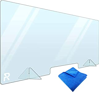 Sneeze Guard, Plexiglass Sheet for Protection, Plexiglass Barrier for Counter 48x24 - Plexiglass Shield for Desk, Counter,...