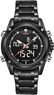 Naviforce Men's Black Dial PU Leather Analogue Classic Watch - NF9050-BBW