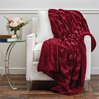 The Connecticut Home Company Faux Fur with Sherpa Reversible Throw Blanket, Many Colors,..