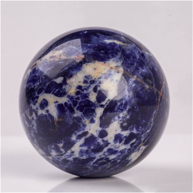 High material JDKJ Natural Blue Sodalite Quartz Sphere Crystal Ball Dedication Ch Healing