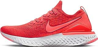 Nike Men's Epic React Flyknit 2 Running Shoe (10.5, Chile Red/Bright Crimson)