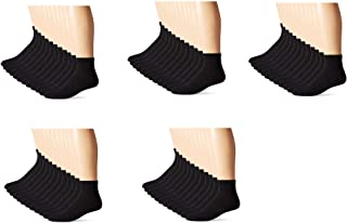 Hanes Mens Ankle Socks, Black, 10-13/Shoe Size 6-12