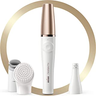 Braun Braun FaceSpa Pro 911 Facial Epilator White/Bronze with 3 Extras,