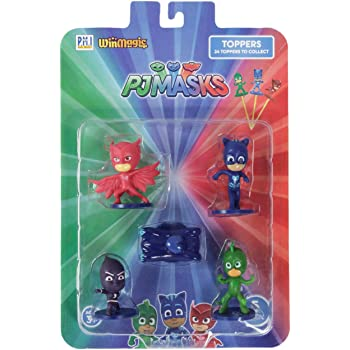 Pj Masks Pencil Toppers Blister 5 (S1) - Owlette, Ninjalinos, Cat Car, Catboy, Gekko for Kids 3+ & Above