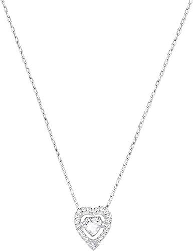 swarovski collana sparkling cristallo bianco, rodiata, da donna 5272365