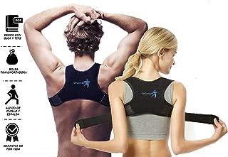 Corrector de Postura Orthocare + EBook corrección de Postura de Espalda para Mujeres, Hombres XL, M alivio de el dolor de espalda, hombros y cuello Faja ajustable para Postura de Espalda, Hombro y Cuello con Ebook y Funda