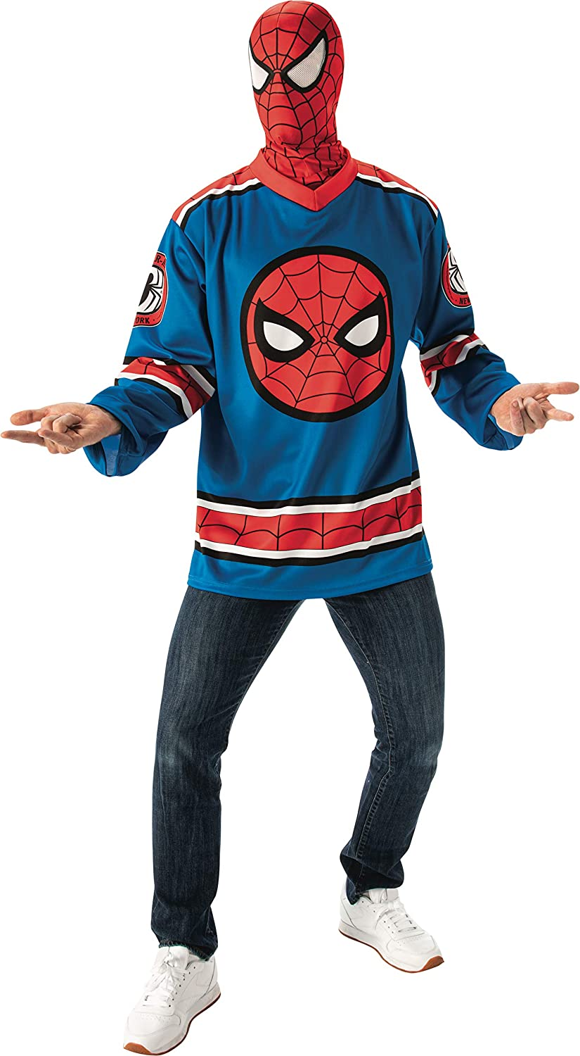 Rubie's unisex-adult Marvel Universe Outstanding 5 ☆ popular Spider-man Jersey Costume T