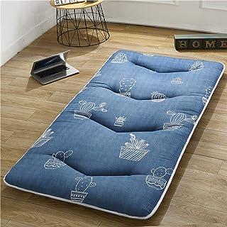 AOLI Colchón de piso Colchón de futón, Futón plegable de tatami transpirable, Colchón de tatami grueso, Cojín de dormir japonés doble, Colchón de piso de futón suave, Colchón de piso plegable enrolla