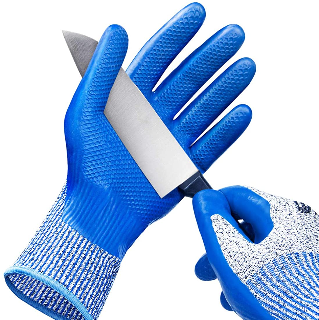 WINUSUAL Cut Resistant Gloves Level 5 Protection, Safety Cutting Gloves for Oyster Shucking,Meat cutting,Mandolin slicing