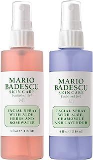 Mario Badescu Facial Spray Rosewater and Lavender Duo