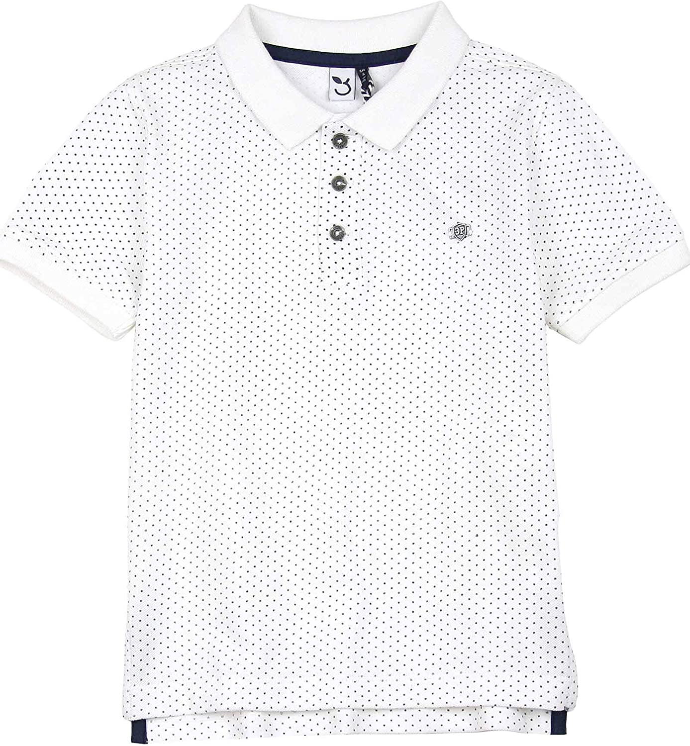 3POMMES Boy's Dotted Polo Label VIP, Sizes 4-12