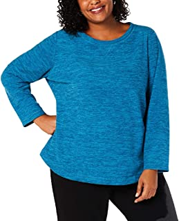 Womens Plus Fleece Pullover Sweatshirt