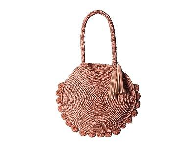 Loeffler Randall Fallon Large Straw Circle Tote (Ballet) Handbags