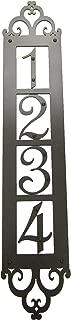 Classic Spanish Style Vertical Iron Address Plaque 4 Number APVS14