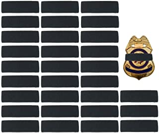 black band on badge