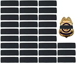 30 Pack Black Police Mourning Band Stripe Police Officer Badge Shield Funeral Honor Guard Straps, 1/2