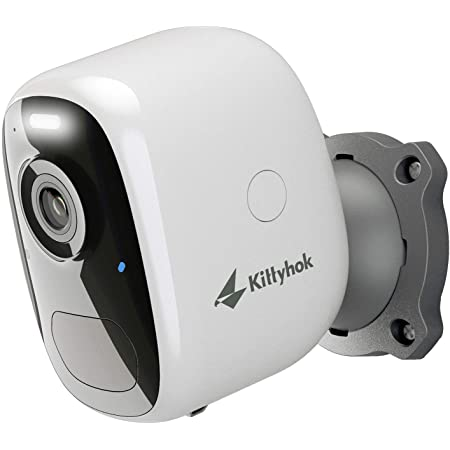 Wireless Outdoor Security Camera with AI Detection, Kittyhok 1080P Battery Powered WiFi Cameras with Spot Light, Siren Alarm, 2-Way Audio, Night Vision, Weatherproof, Micro SD/Cloud Storage