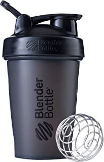 BlenderBottle Classic Loop Top Shaker Bottle, 20-Ounce, Full Color Black