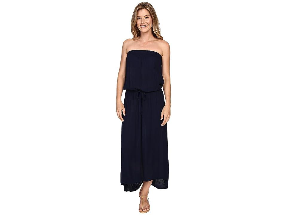 Allen Allen High-Low Tube Dress (Lapis) Women