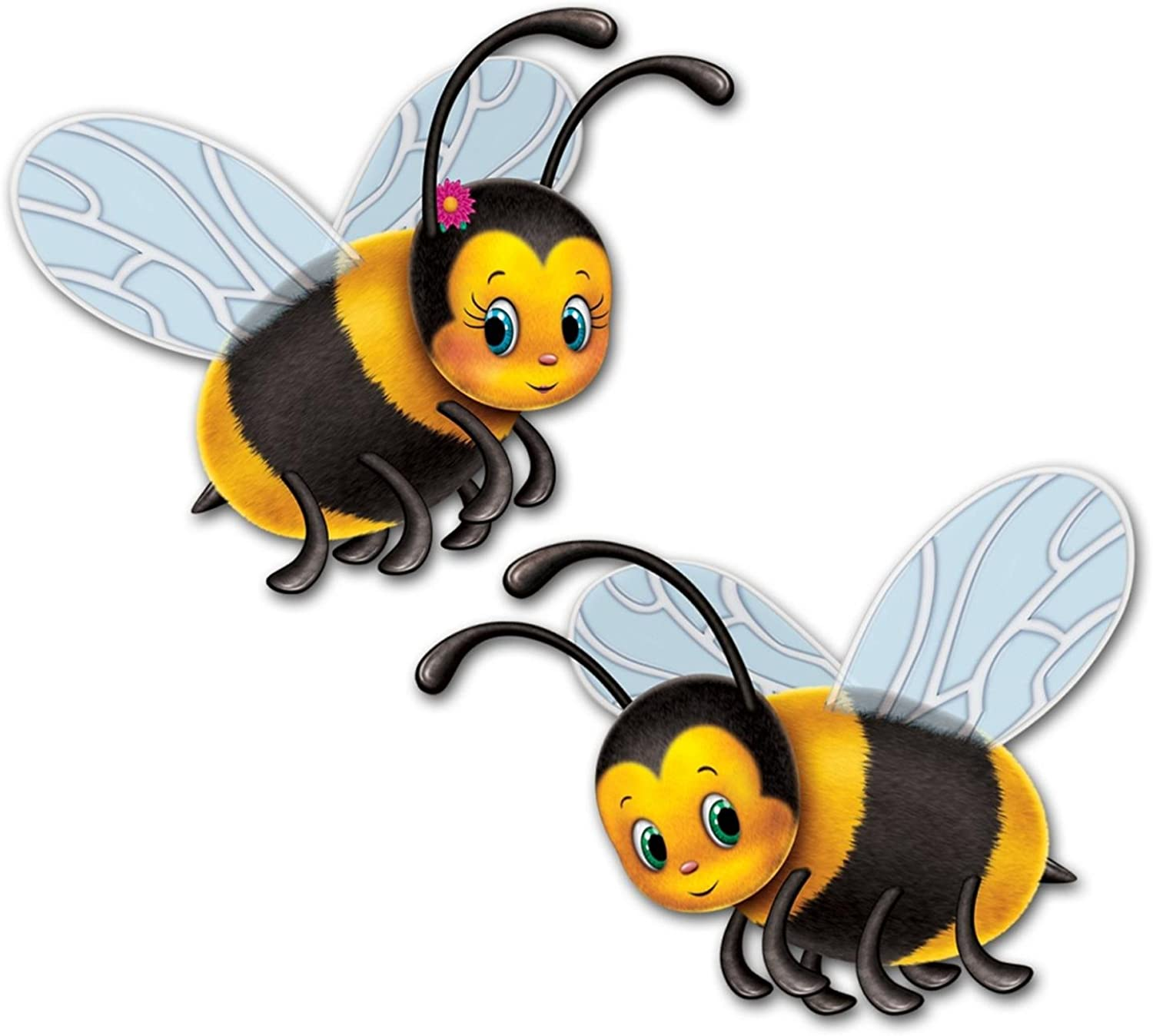 Club Pack of 24 Yellow and Black Bumblebee Party Cutout Decorations 17
