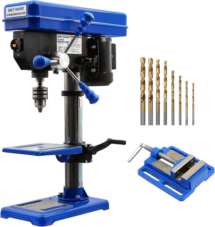 BILT HARD 10 Minneapolis Mall inch 12-Speed Machin Drill Press Drilling Benchtop New York Mall