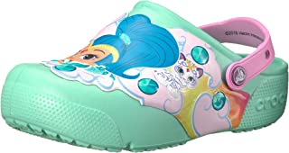 Crocs Unisex-Baby Nickelodeon Fun Lab Shimmer & Shine Light-Up Clog, New Mint, 6 M US Toddler
