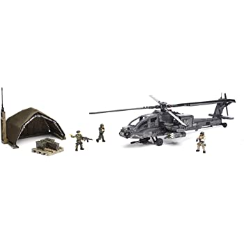 Amazon Com Mega Bloks Call Of Duty Anti Armor Helicopter Collector Construction Set Toys Games