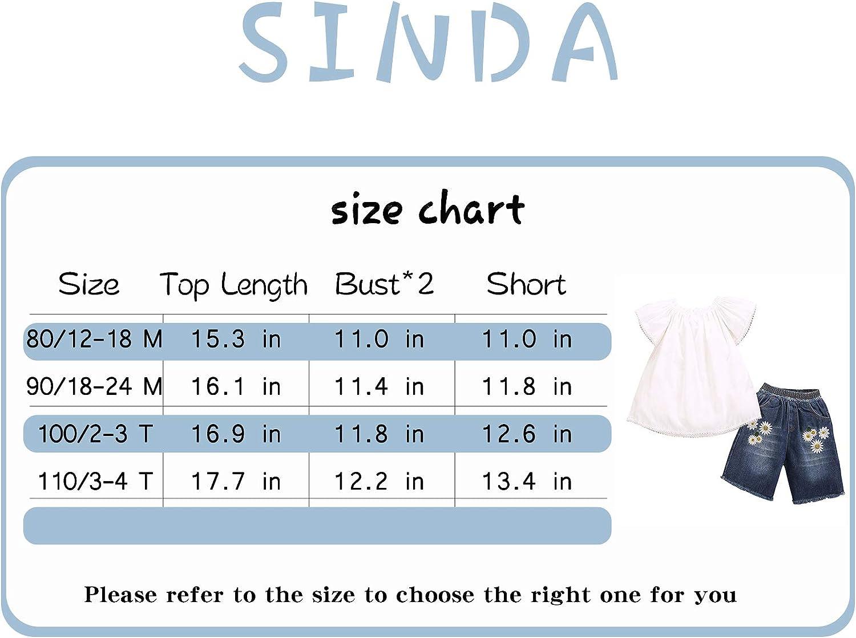 Sinda Newborn Baby Girls Clothes Print Vest+Short +Headband Outfit