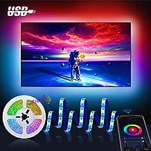 Wifi 3M Tira led Rgb TV con Usb, Maxcio Luces de colores con Brillo Ajustable, Control de Voz y Smart Life, Led para TV con Control Remoto de Infrarrojos Compatible con Alexa y Google Home
