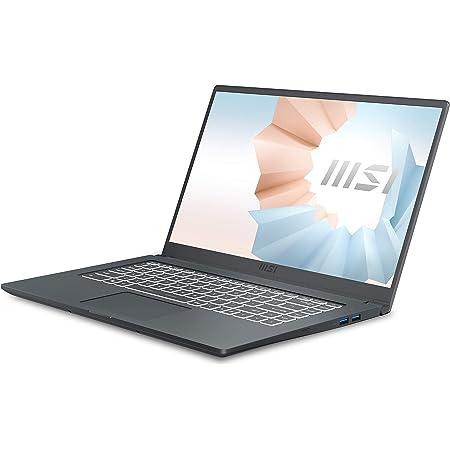 "MSI Modern 15 A11M-045XES - Ordenador portátil de 15.6"" FullHD (Intel Core i7-1165G7, 16 GB RAM, 512 GB SSD, UMA, sin sistema operativo) Carbon gray - Teclado QWERTY Español"