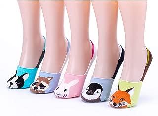Women Novelty Cute Funny No Show Low Cut Non Slip Animal Crew Socks
